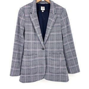 GAP Modern Blazer in Navy/Pink Glen Plaid Size 2